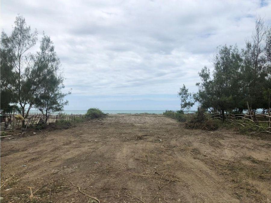 terreno frente al mar en puerto cayo manabi