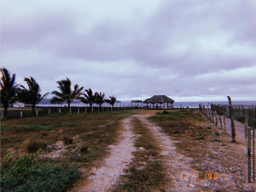 lote primera linea al mar en puerto cayo manabi