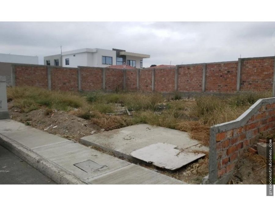lote listo construir en urbanizacion manta