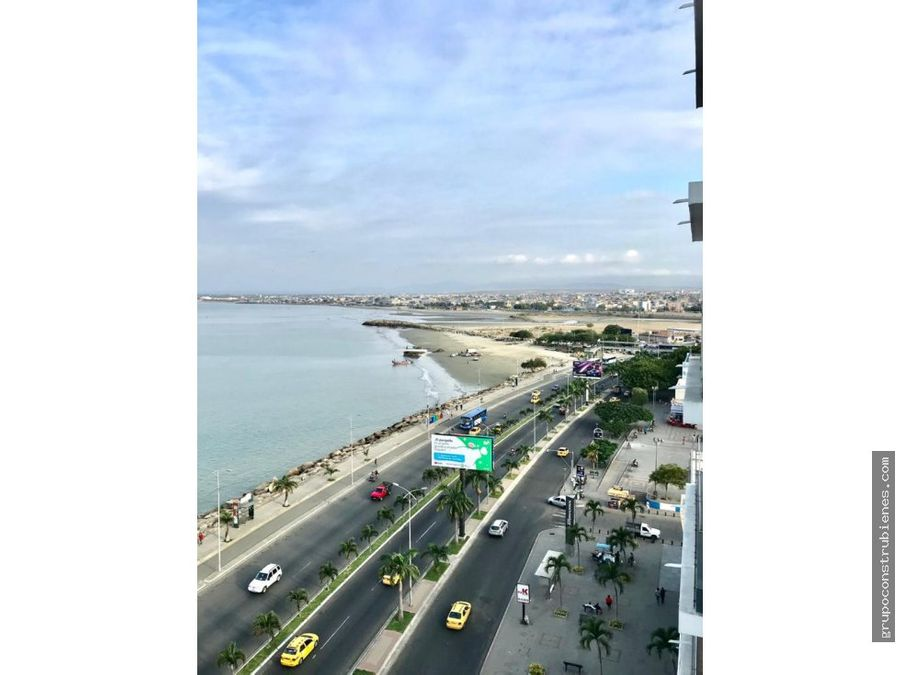 departamento vista al mar frente yacht club manta