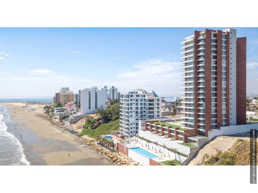 penthouse frente al mar en edificio ibiza manta