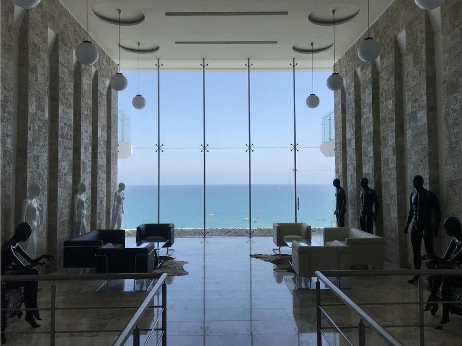 departamento amoblado frente al mar en edificio oceania
