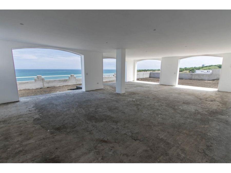 casa por estrenar con vista al mar en urb ciudad del mar
