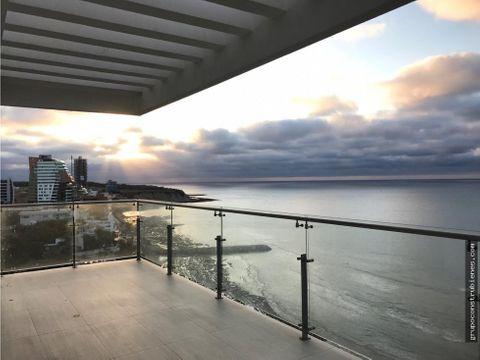luxury penthouse 2 niveles frente al mar manta