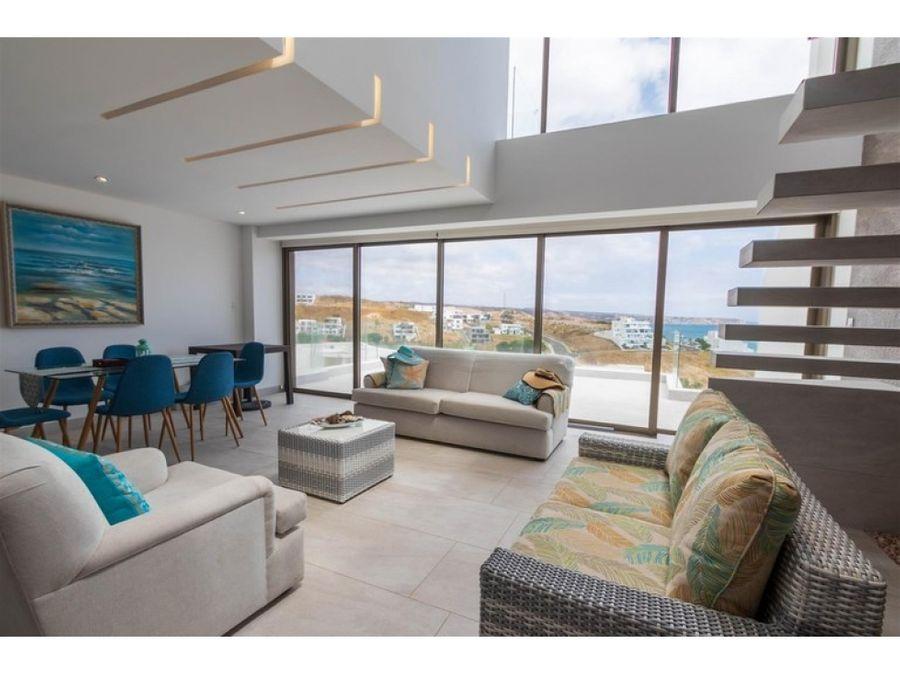 duplex moderno vista al mar en ciudad del mar amoblado