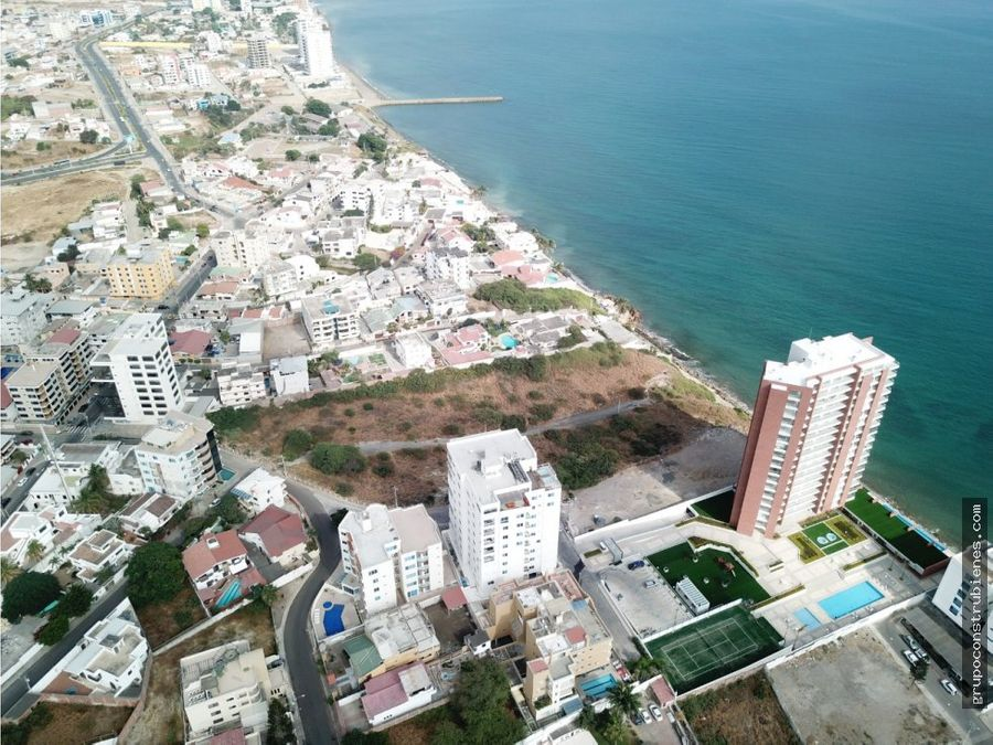 terreno para construccion edificio frente al mar