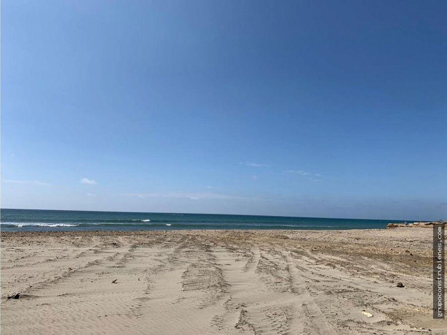 lote frente al mar en manta santa marianita
