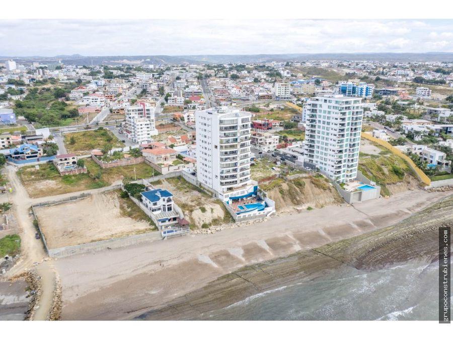 terreno para construccion edificio frente al mar