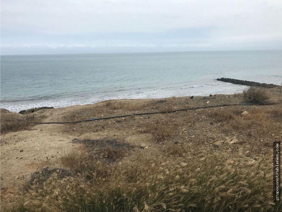 lote frente al mar en urb marina blue manta