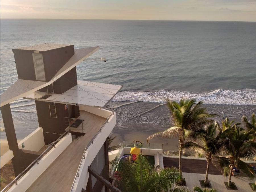 departamento amoblado frente al mar en edificio santorini