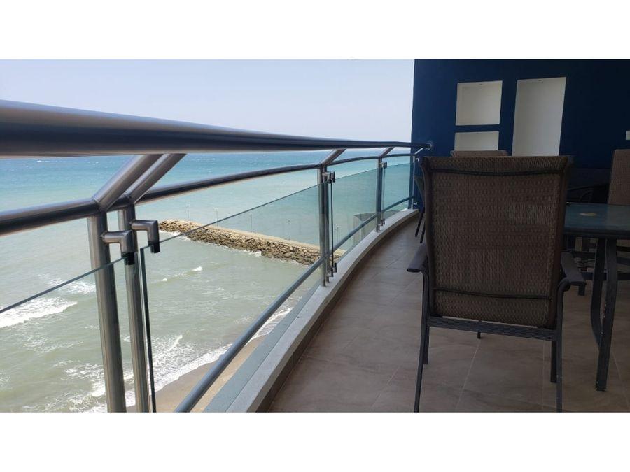 departamento frente al mar y amoblado en edificio navegante manta