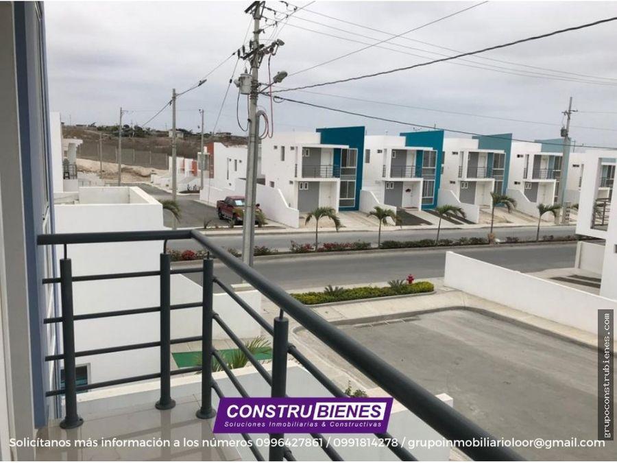 casas a estrenar en urbanizacion privada en manta