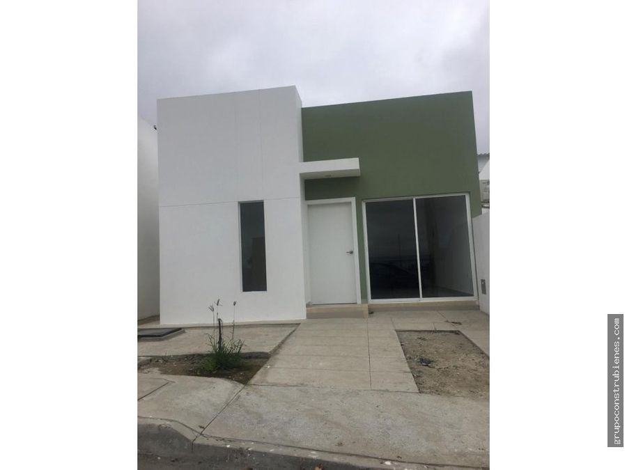 casa a estrenar en urbanizacion moderna en manta