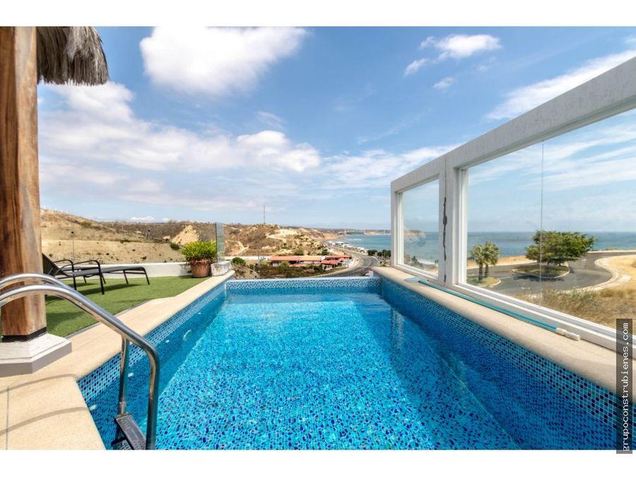 casa vista al mar estilo malibu beach en manta