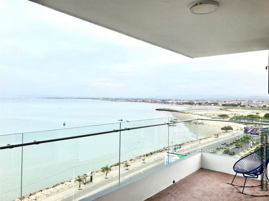 departamento vista al mar frente yacht club manta