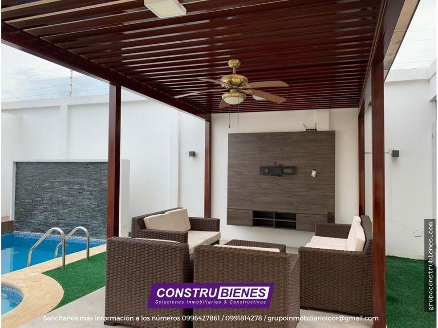 casa en urbanizacion privada sur de manta
