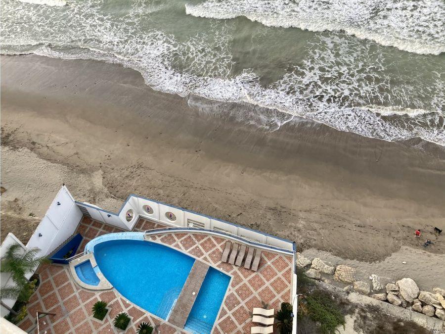 departamento en barbasquillo edificio navegante frente al mar manta