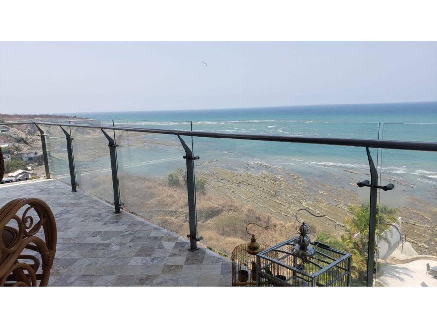 hermoso departamento frente al mar y amoblado en mykonos manta