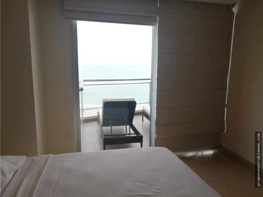 departamento amoblado frente al mar en manta