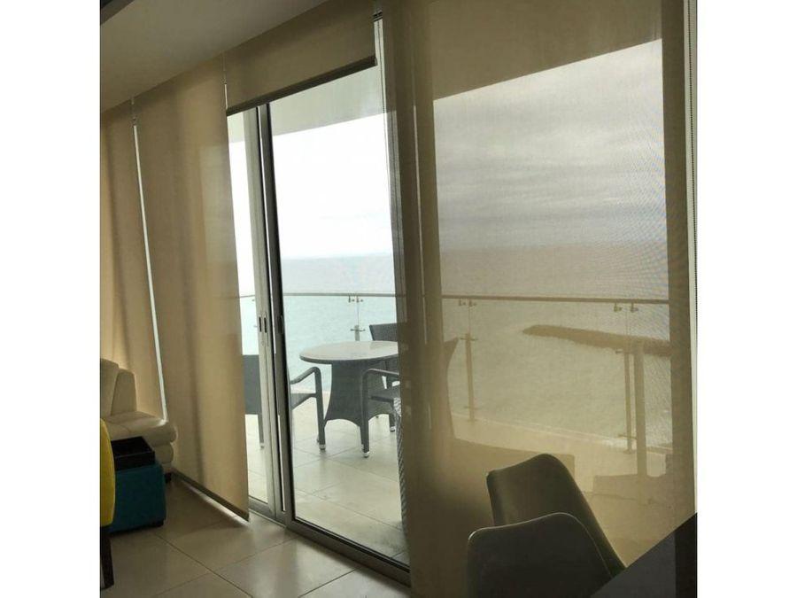 departamento amoblado vista al mar en barbasquillo