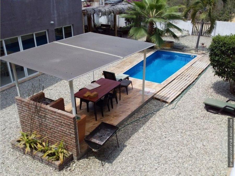 casa de playa amoblada en puerto cayo manabi
