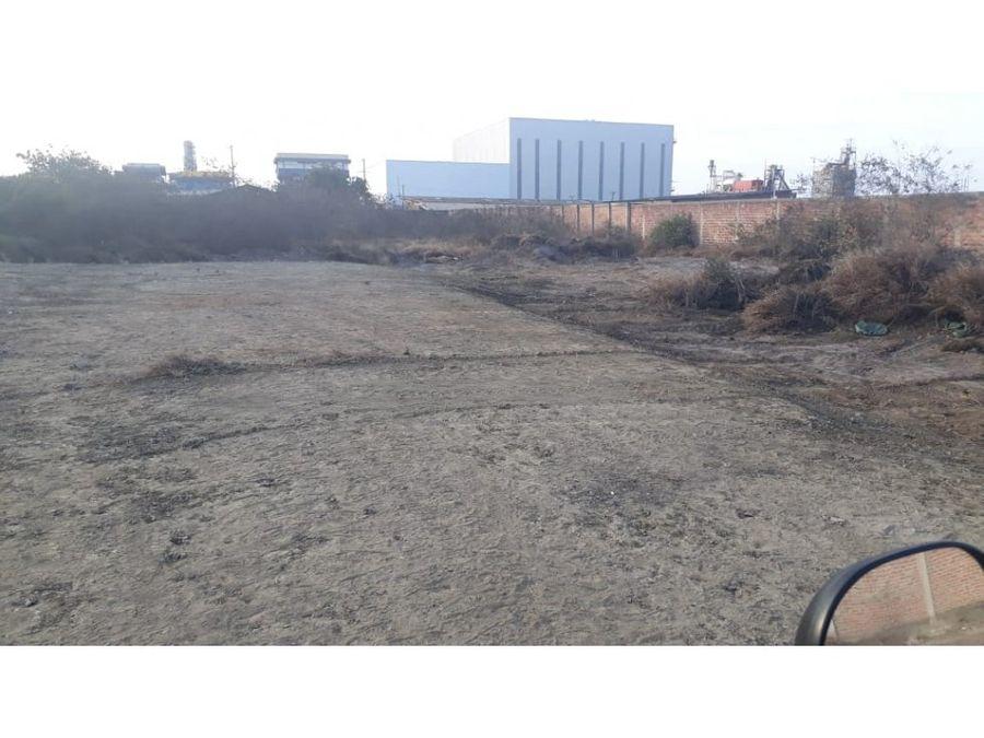 terreno industrial cerca a la fabril manta