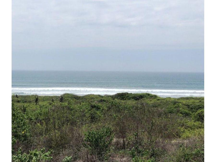 22 hectareas frente al mar en puerto cayo manabi