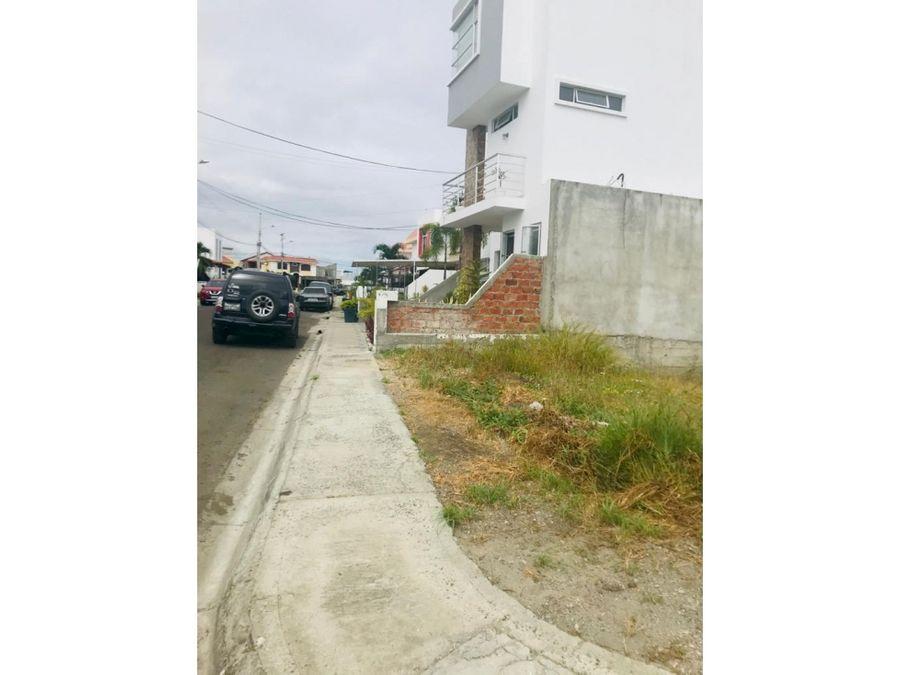 lote en urbanizacion manta beach manta