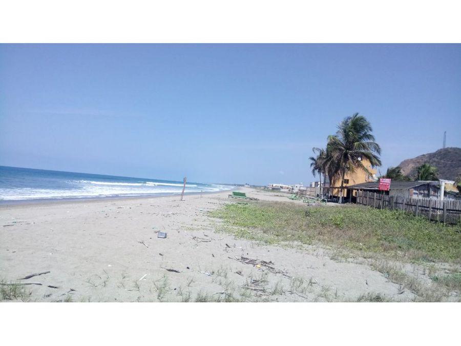 lote frente al mar en puerto cayo manabi