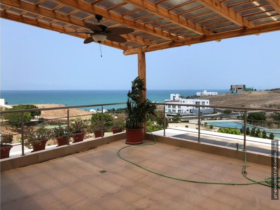 casa amoblada vista al mar en ciudad del mar