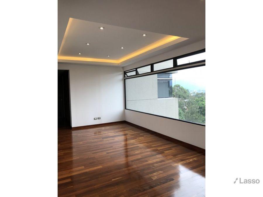 apartamento de 400mt2 remodelado en zona 14 en renta