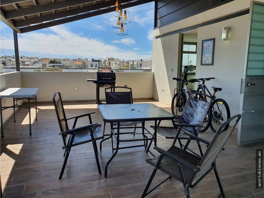 casa 256 h con roof garden en la cima de zapopan