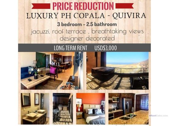 price reduced penthouse at copala now only 3000