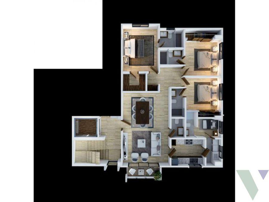 apartamentos en venta 2 habts mirador sur dn