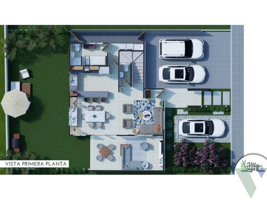 casas en ventas de 2 niveles resvillas lago en la jacobo majluta