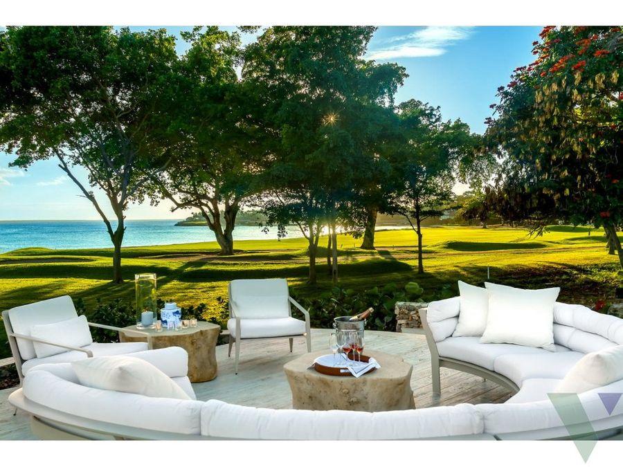 venta villa de lujo frente al mar casa de campo