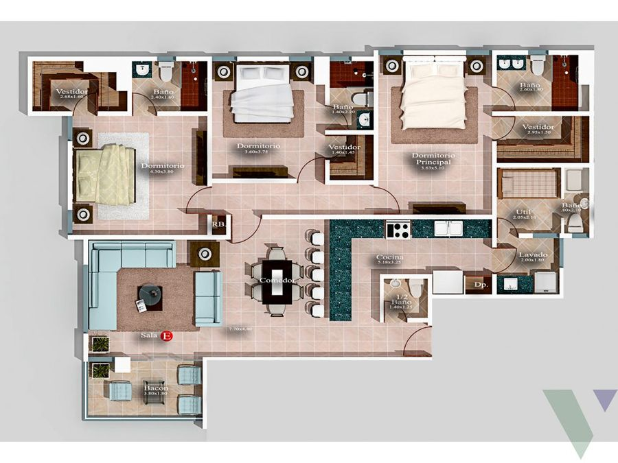 apartamentos en venta 3 habitaciones villa palmera naco ii