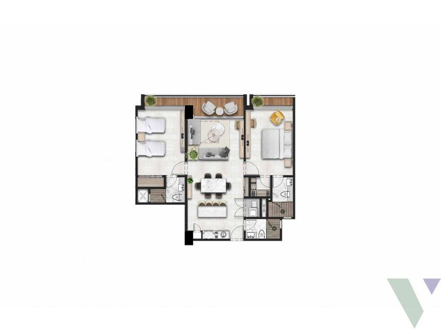 apartamentos 2 habitaciones piantini sto dgo