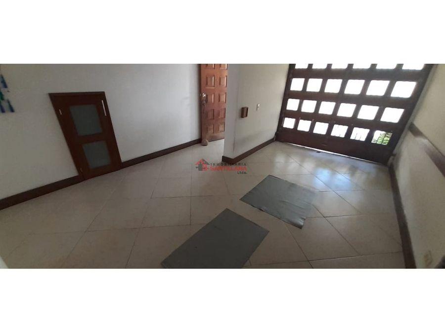 casa en calasanz primer piso cerca al refugio santa ana