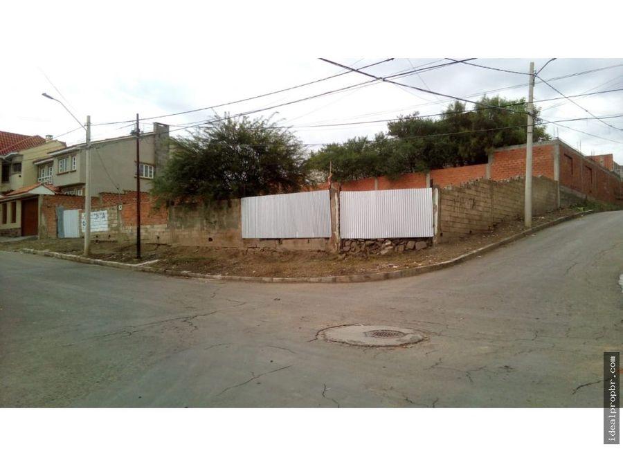 lote esquinero barrio fatima