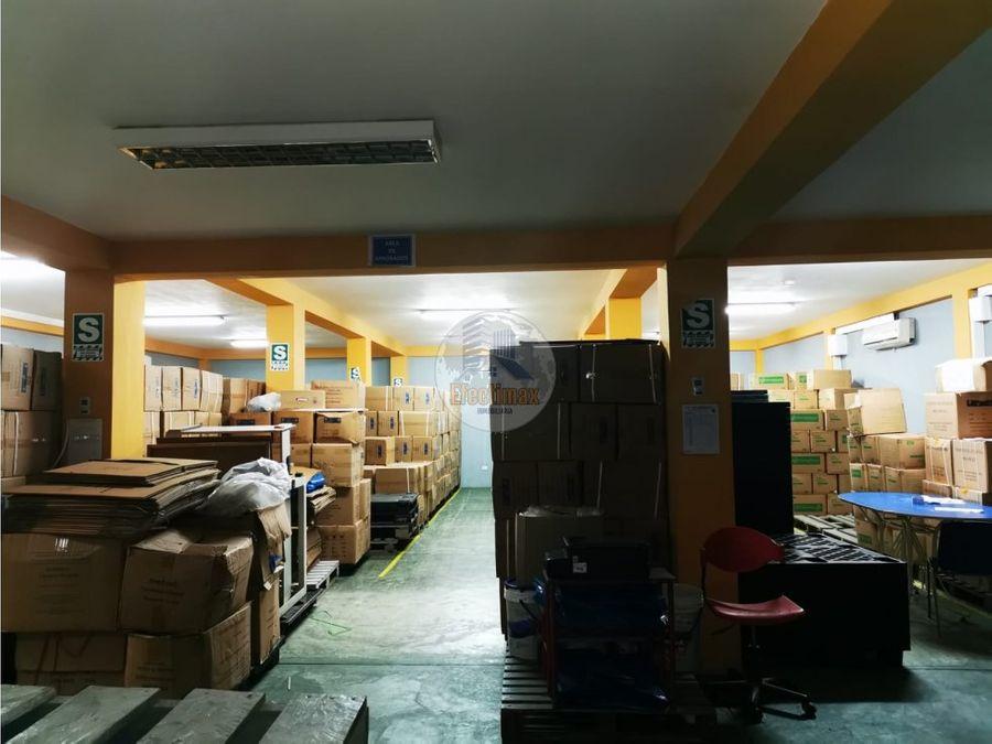 alquiler local industrial distrito de los olivos