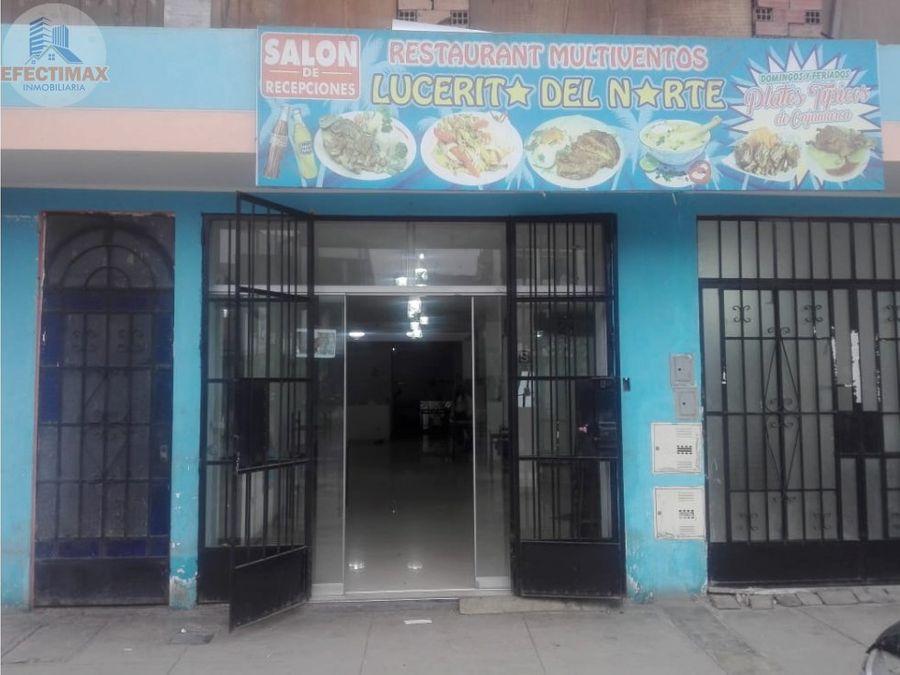 alquiler de local comercial en distrito de san martin de porres smp