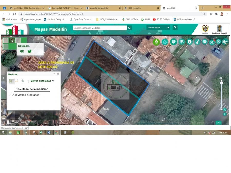 venta 3 casas lotes calasanz parte baja 492 m2 1200 millones c