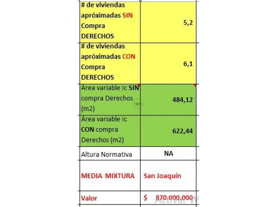 venta casa lote san joaquin 870 millones frente 97 m 173 m2 d