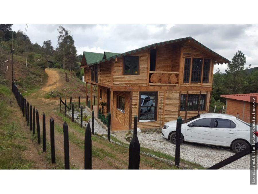 vendo linda cabana en madera parque arvi
