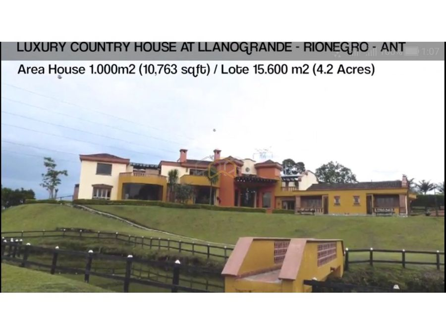 vendo casa campestre llano grande
