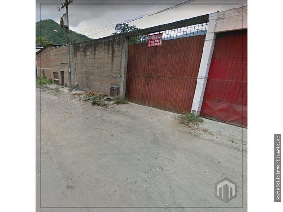 vendo lote bodega de 1000 mts en sector vegas de villamizar
