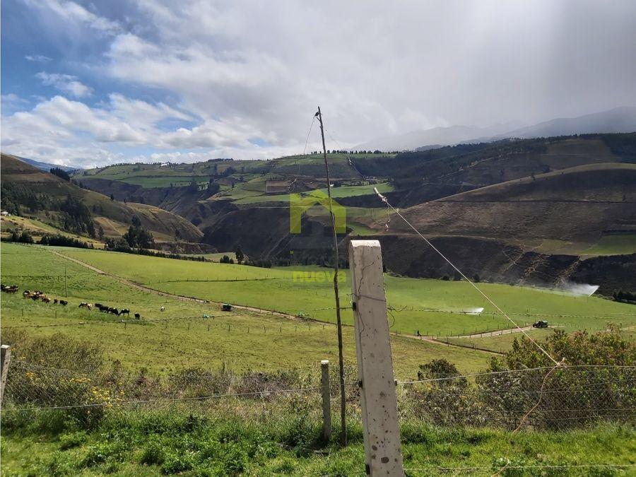 hacienda de 92 hectareas ubicada a 30 minutos de cayambe