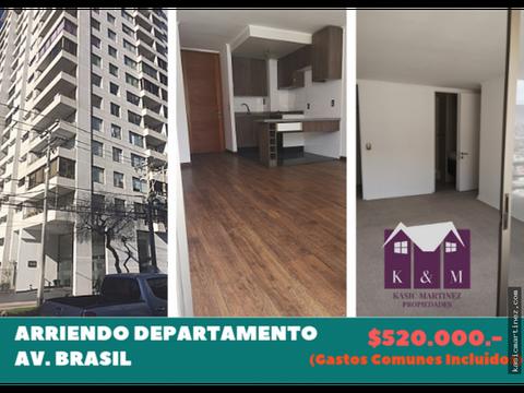 arriendo departamento avenida brasil