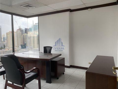 alquiler oficina amoblada torre global plaza